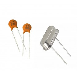 4MHz Crystal Oscillator x 1 + 22pf 50V Ceramic Capacitor x 2 for PIC