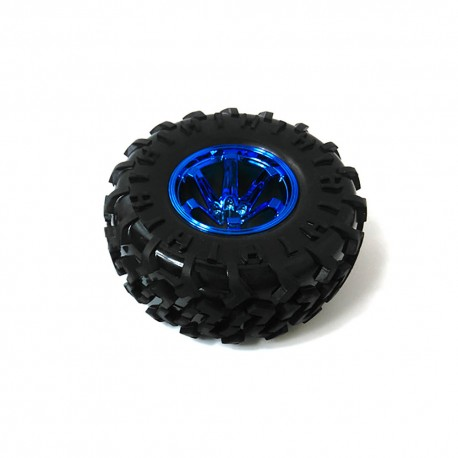Extra Large Tire Wheel Blue 130mm