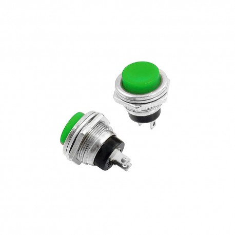 DS-212 Industrial Push Button Green Metal