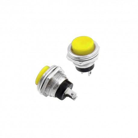 DS-212 Industrial Push Button Yellow Metal