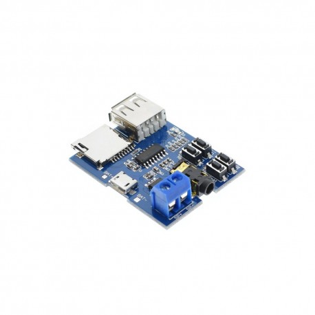 MP3 Player Decoder Module with 2W Amp Buttons USB