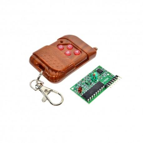 4 Channel 315Mhz Wireless Remote Control Kit 2262/2272 Keychain