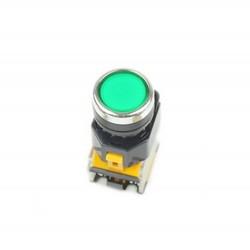Panel Mount Heavy Duty LA38-11/203 Push Button AC DC 22mm Green