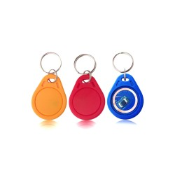 RFID Tag 13.56Mhz M1 S50 Keyfobs Keychain ABS Waterproof ISO14443A MIFARE Classic 1K Compatible (Fudan F08 Chip)