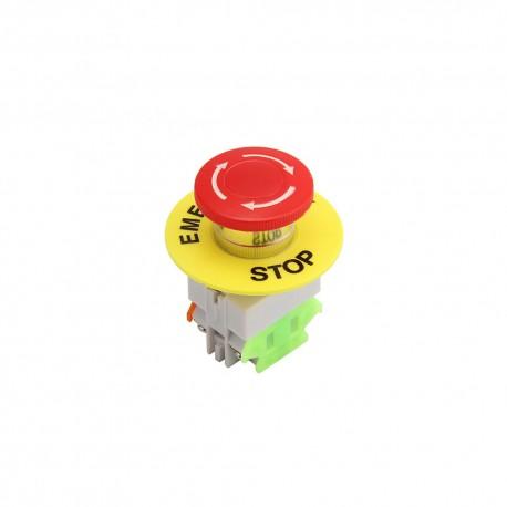 Mushroom Cap DPST Emergency Stop Push Button Switch AC 660V 10A 22mm