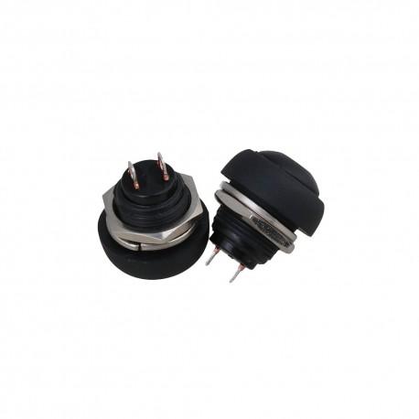 Waterproof Push Button 250V 1A 12mm Black