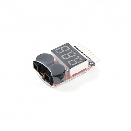 Lithium Li-ion Li-po Battery 1S-8S Low Voltage Alarm Buzzer Indicator Checker Tester