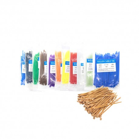 3x100mm Blue Cable Tie Wire Zip Cord Strap Zip Trim Wrap Nylon 100pcs Packet