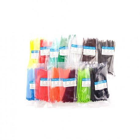 2x200mm Black Cable Tie Wire Zip Cord Strap Zip Trim Wrap Nylon 100pcs Packet