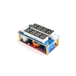 XL4015 5A Step Down Adjustable Converter Module DC-DC Power Supply Buck Converter Lithium Charger with LED Voltmeter and Ammete