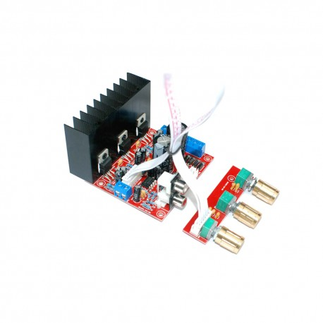2.1 Channel TDA2030A Audio Subwoofer Amplifier Board with Tone Board (18W x 2) + (30W Bass)