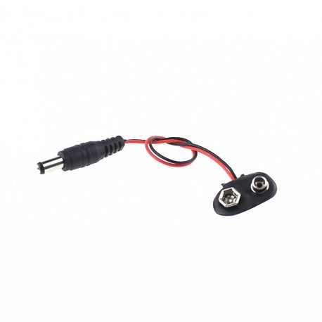 9V Battery Connector with DC Jack