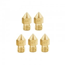 Creality MK8 Copper/Brass Nozzle 0.2mm 0.3mm 0.4mm 0.6mm 0.8mm 1.0mm