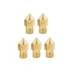 Creality Standard MK8 Copper/Brass Nozzle 0.2mm 0.3mm 0.4mm 0.6mm 0.8mm 1.0mm