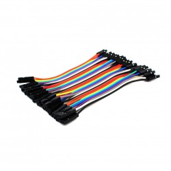 Female - Female Dupont Wire Jumper cable (40pcs 10cm)