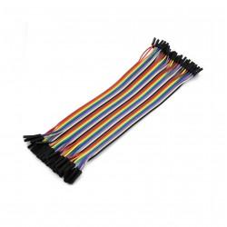 Female - Female Dupont Wire Jumper cable (40pcs 20cm)