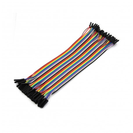 Female - Female Dupont Wire Jumper cable (40pcs 20cm)