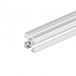 2020 T Slot Aluminium Extrusion Profile Silver 1m