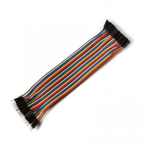 Male - Male Dupont Wire Jumper cable (40pcs 20cm)