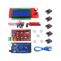 Reprap Ramps 1.4 3D Printer Kit (Mega 2560 R3 + DRV8825 Stepper Driver 5pcs + 2004 LCD Control + USB + Wires)