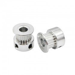 GT2 20T 20 Teeth Timing Pulley (5mm Bore) 20TB5W6 Silver