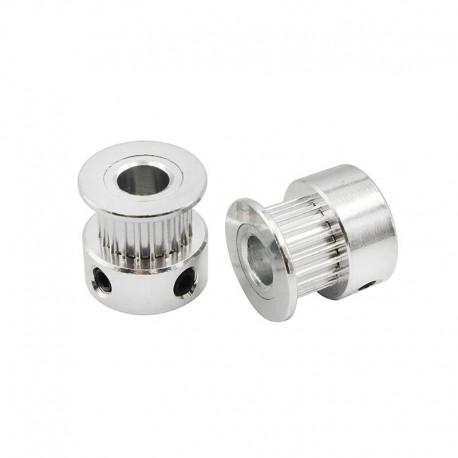 GT2 20 Teeth Timing Pulley (5mm Bore) 20TB5W6 Silver