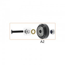 Openbuilds (Type A2 - with Eccentric Spacer) POM Wheel Pulley Kit for 2020 V Slot Aluminum Profiles