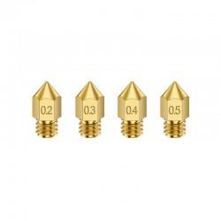 MK8 Copper/Brass Nozzle 0.2mm 0.3mm 0.4mm 0.5mm 0.6mm 0.8mm 1.0mm