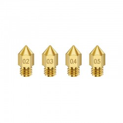 MK8 Copper/Brass Nozzle 0.2mm 0.3mm 0.4mm 0.6mm 0.8mm 1.0mm