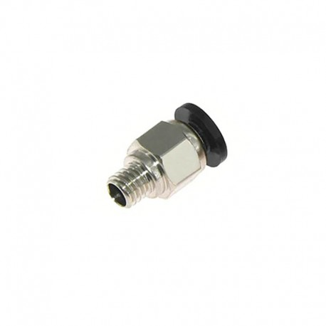 Silver PC4-M6 Pneumatic Connector for PTFE Bowden Tube