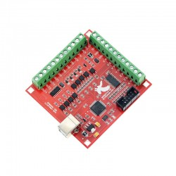 USB 100Khz 4 Axis CNC Breakout Board For Mach3 Mach 3 (Red Color)