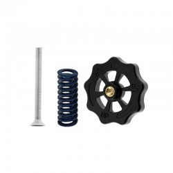 4pcs M4 Medium Hand Twist Bed Leveling Nut Die Mold Spring (Yellow Blue) Screw Kit