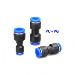 Pneumatic PU PG Straight Connector