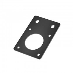 NEMA 17 Stepper Motor Mounting Plate Bracket for 3D Printer CNC 20 Aluminium Extrusion (Black)