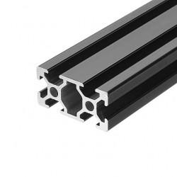 2040 T Slot Aluminium Extrusion Profile Black 1m