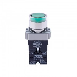 Schneider Electric XB2BW33B1C Panel Mount Self-locking Push Button with Indicator Light