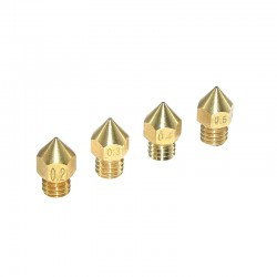 Creality Pointed MK8 Copper/Brass Nozzle 0.2mm 0.3mm 0.4mm 0.6mm 0.8mm 1.0mm