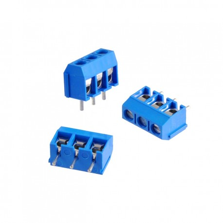 3 Pin Screw PCB Terminal Block Connector [5mm Pitch]