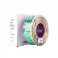 eSUN eSilk PLA Rainbow Multicolor 3D Printer Filament 1.75mm 1kg