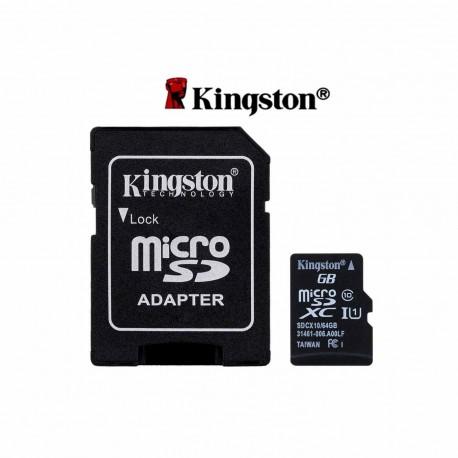 Kingston (Thaiwan) 16GB Class 10 Micro SD Card Memory Card with Adapter