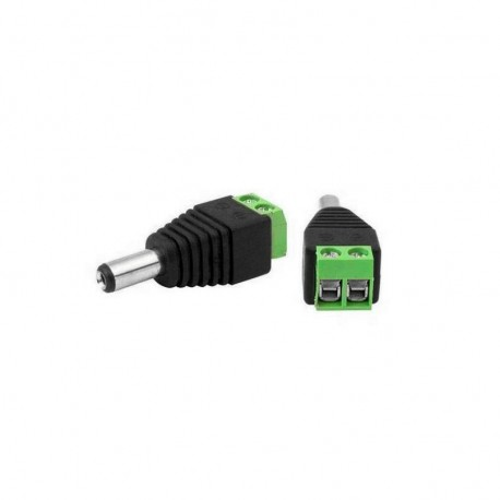 DC Jack Adapter Power Connector with Screw Terminals 2.1x5.5mm
