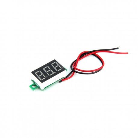 Digital Voltmeter Volt Meter 0 - 40V Red LED Display (No cover)