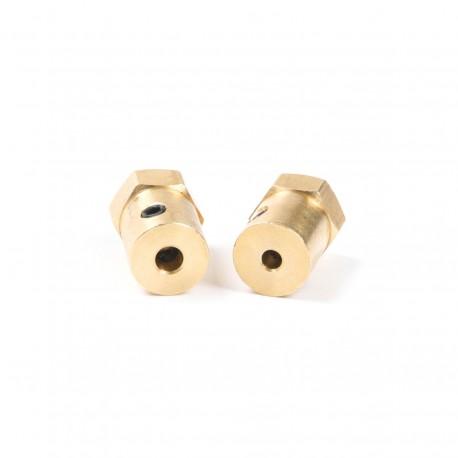 Motor Shaft Hex Coupling Coupler Brass 6mm
