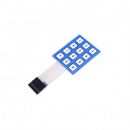3x4 Matrix Keypad Mini (White & Blue) - ZENIX Store
