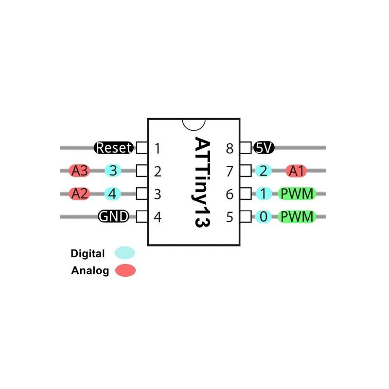 attiny13 attiny13a microcontroller  smd