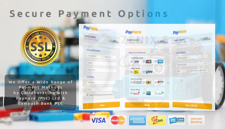 100% Secure Payment Options